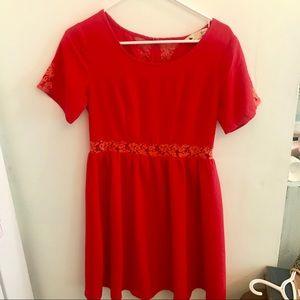 •Yumi Kim• Lace Accent Babydoll Dress